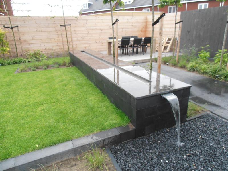 Tegels for Waterornament tuin